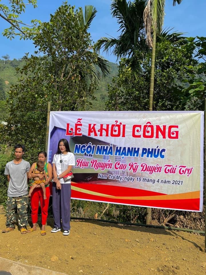 Kỳ Duyên, Minh Triệu tặng dê giống cho bà con ở Quảng Nam - ảnh 4
