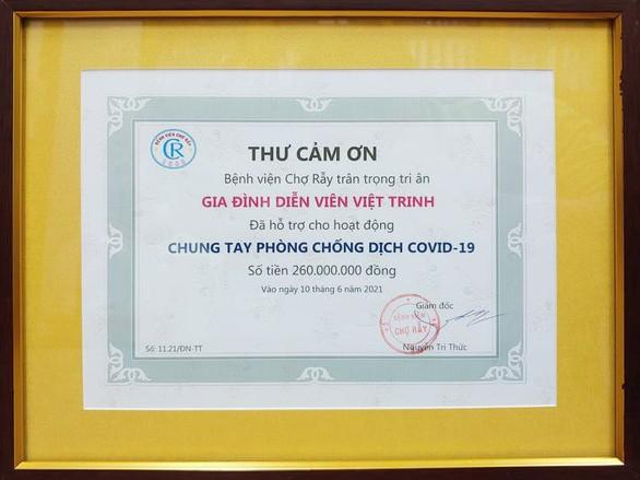 Việt Trinh ủng hộ Bệnh viện Chợ Rẫy 260 triệu phòng chống COVID-19 - ảnh 2
