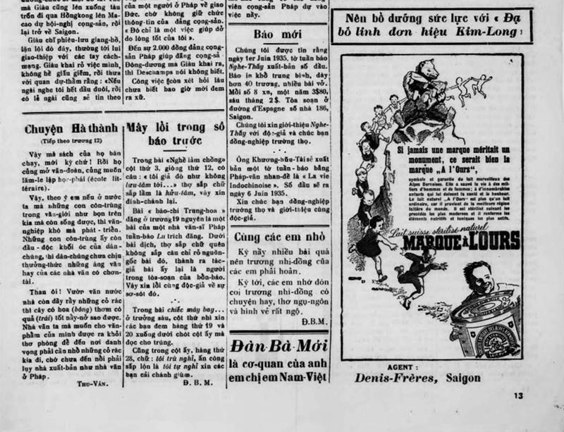 Sửa sai, cải chính trên báo chí trước 1945 - ảnh 2