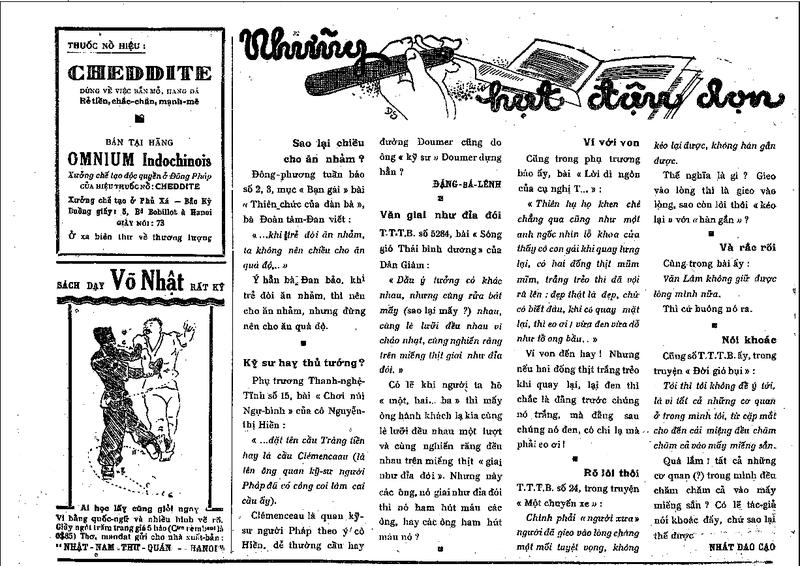 Sửa sai, cải chính trên báo chí trước 1945 - ảnh 1