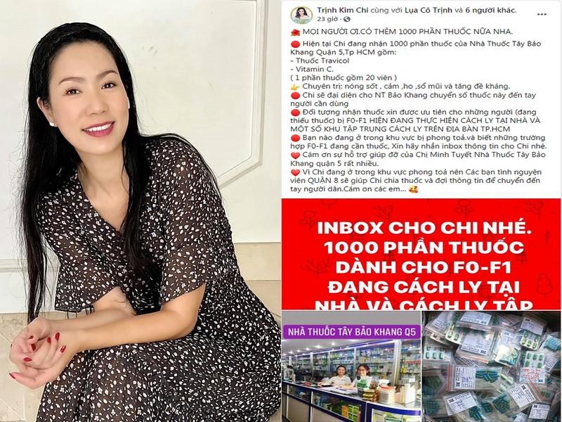 NSƯT Trịnh Kim Chi cùng sao Việt hỗ trợ người dân, y bác sĩ mùa dịch - ảnh 1