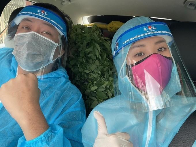 Hoa hậu Khánh Vân cùng nghệ sĩ hỗ trợ người dân, y bác sĩ chống dịch - ảnh 2