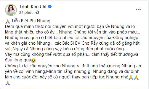 Ca sĩ Phi Nhung qua đời vì COVID-19, nhiều nghệ sĩ tiếc thương - ảnh 2