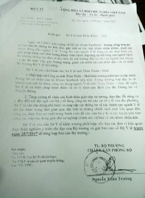 'Chê' Bộ trưởng Bộ Y tế trên facebook, bị phạt 5 triệu - ảnh 2