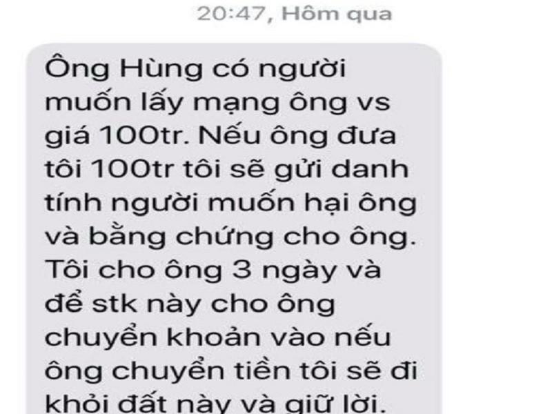 Tin nhắn đe dọa lãnh đạo VP đoàn ĐBQH là SIM rác từ TP.HCM - ảnh 1