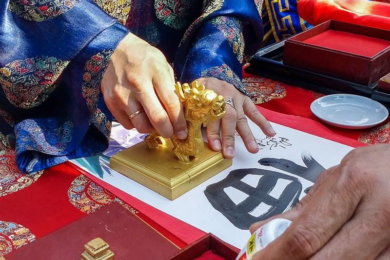 Tái hiện lễ hạ nêu, khai ấn trong hoàng cung Huế - ảnh 5