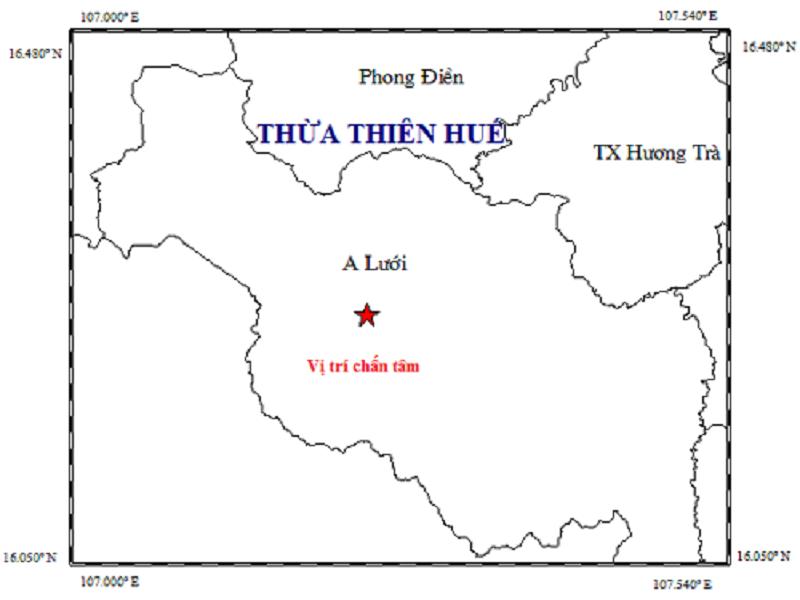 Động đất tại Thừa Thiên-Huế - ảnh 1