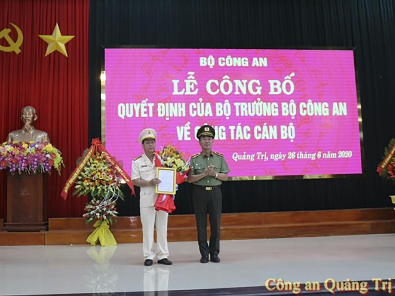Bộ công an bổ nhiệm Giám đốc Công an tỉnh Quảng Trị - ảnh 1