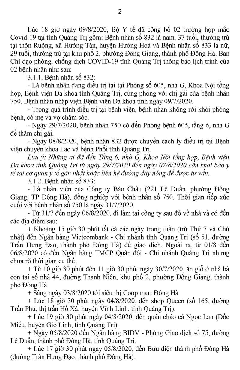 Ca nhiễm COVID-19 ở Quảng Trị: từng đến siêu thị, bưu điện - ảnh 1