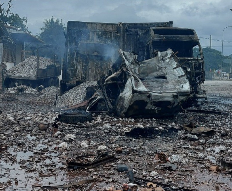 1 người Việt tử vong trong vụ cháy nổ ở Lào - ảnh 1