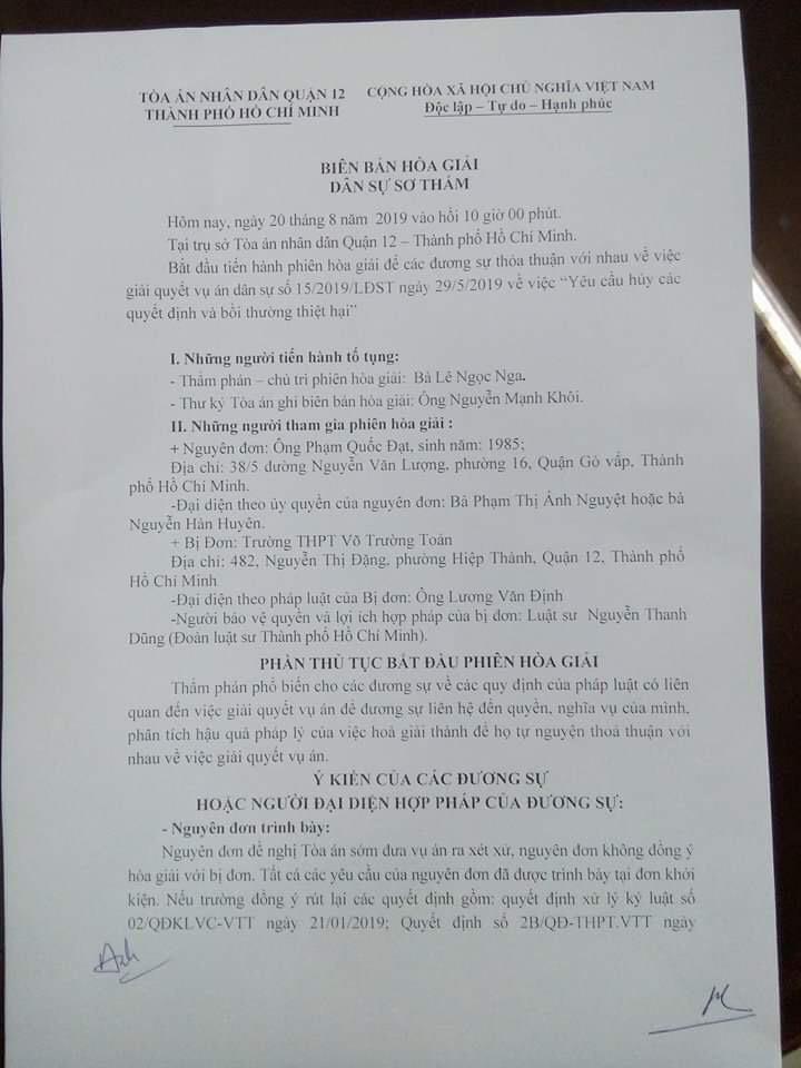 Thầy giáo cho học sinh diễn cảnh nóng muốn tòa xử sớm - ảnh 1