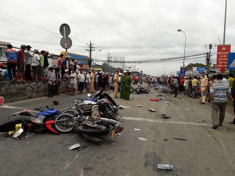 Ngày mai xử tài xế xe container tông chết 4 người - ảnh 1