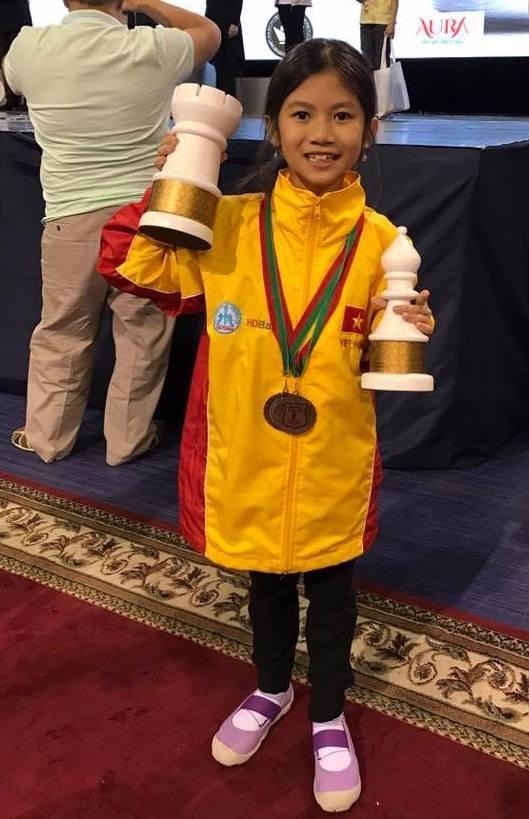 Ái nữ tay đua Mai Công Hiếu đoạt 2 HCĐ cờ vua thế giới - ảnh 2