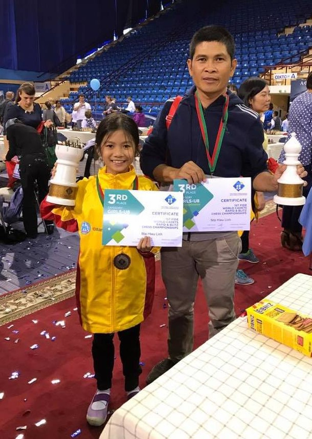 Ái nữ tay đua Mai Công Hiếu đoạt 2 HCĐ cờ vua thế giới - ảnh 1