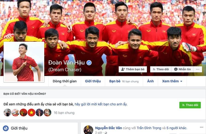 Tuyển thủ U-23 VN được Facebook định danh tài khoản - ảnh 1