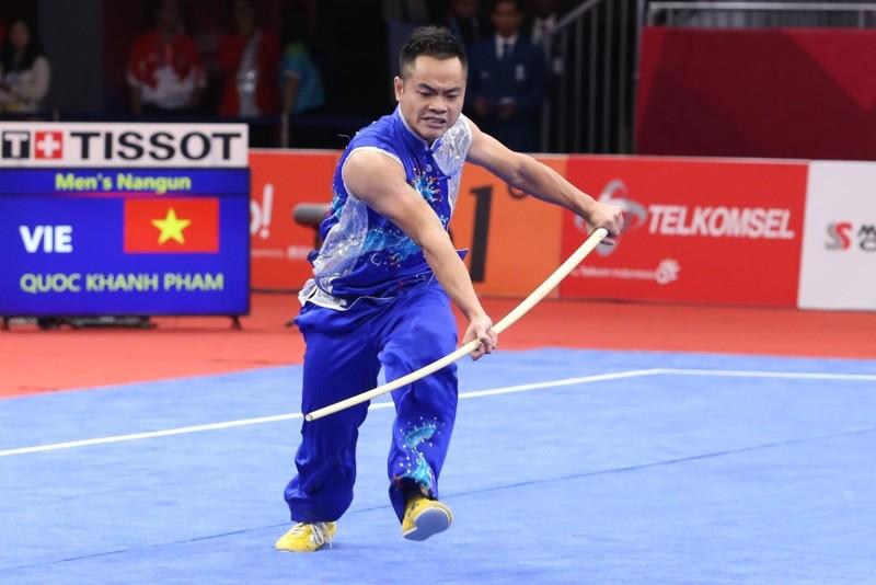 Phạm Quốc Khánh đoạt bạc, Dương Thúy Vy nhận đồng Wushu - ảnh 1