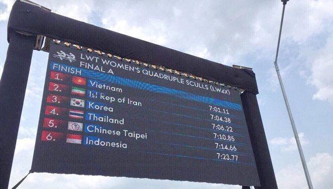 """Bốn cô gái """"vàng"""" Rowing rơi lệ khi hát quốc ca Việt Nam - ảnh 1"""