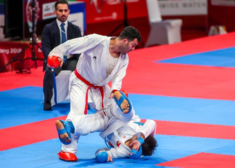 Võ sĩ karate Nguyễn Minh Phụng đổ máu đoạt HCB Asiad - ảnh 3