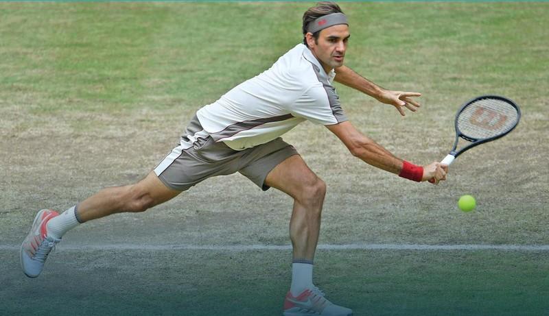 Đánh bại Goffin, Federer lập kỷ lục vô địch mặt sân cỏ - ảnh 1