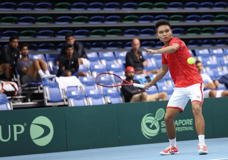 Lý Hoàng Nam cùng tuyển Việt Nam thăng hạng Davis Cup - ảnh 1