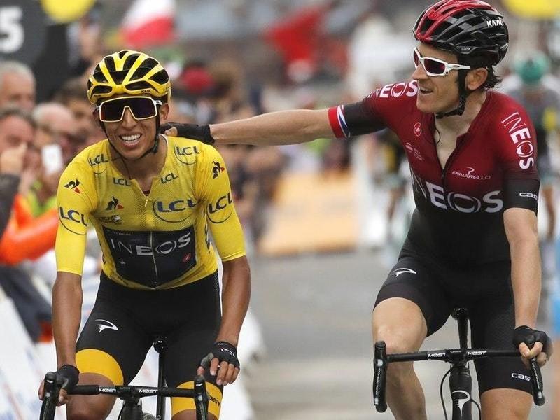Tay đua Colombia chạm tay vào áo vàng Tour de France 2019 - ảnh 1