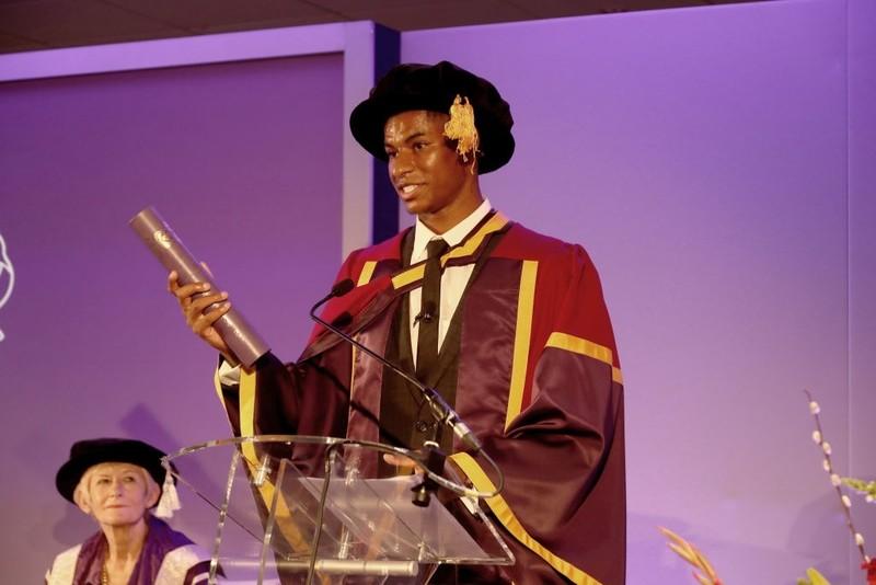 Rashford nhận bằng tiến sĩ danh dự từ ĐH Manchester - ảnh 3