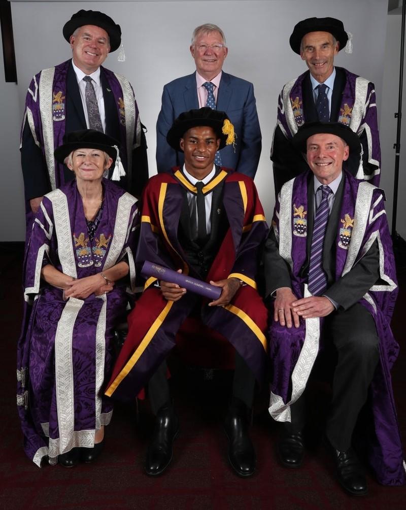 Rashford nhận bằng tiến sĩ danh dự từ ĐH Manchester - ảnh 4