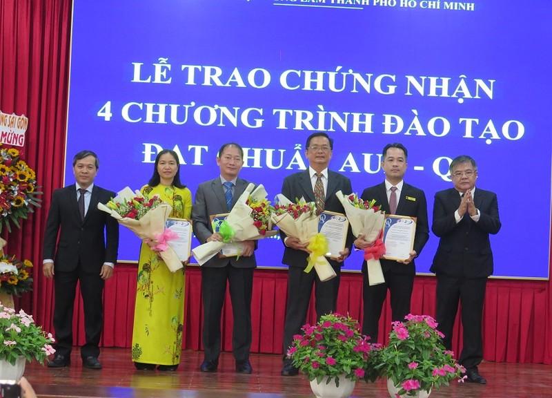4 chương trình của Đại học Nông Lâm TP.HCM đạt chuẩn AUN - ảnh 1