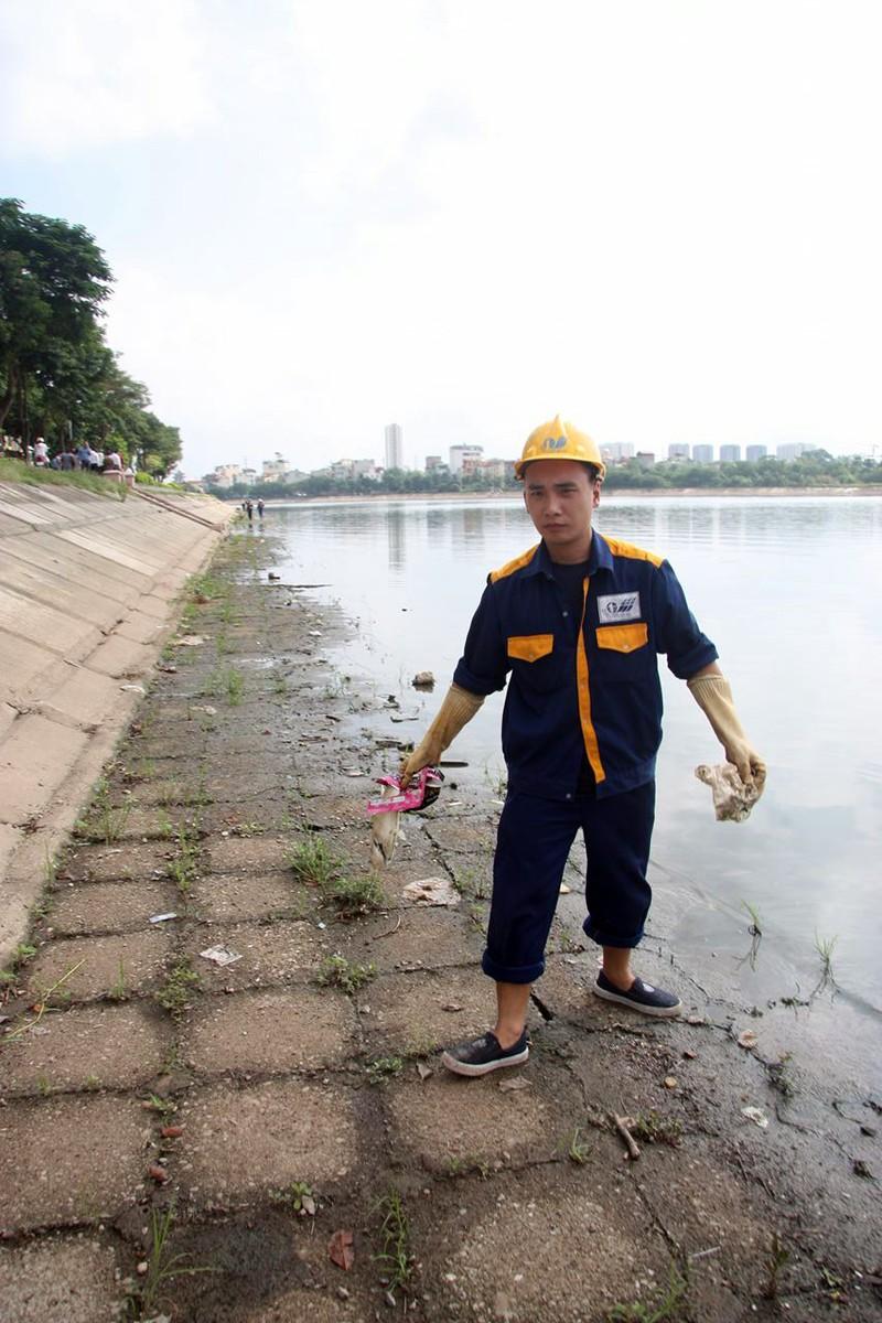 Cá lại chết nhiều ở hồ Linh Đàm - ảnh 4