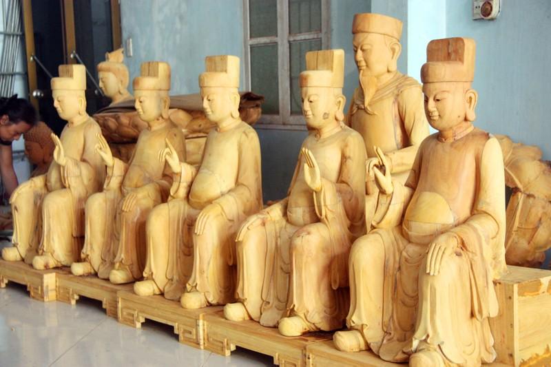Độc đáo với nghề tạc tượng thờ ở Thanh Oai - ảnh 13