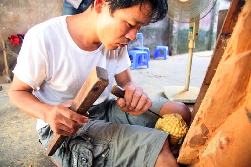 Độc đáo với nghề tạc tượng thờ ở Thanh Oai - ảnh 8