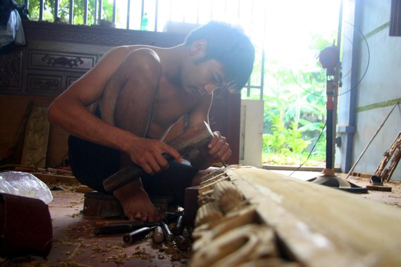 Độc đáo với nghề tạc tượng thờ ở Thanh Oai - ảnh 11