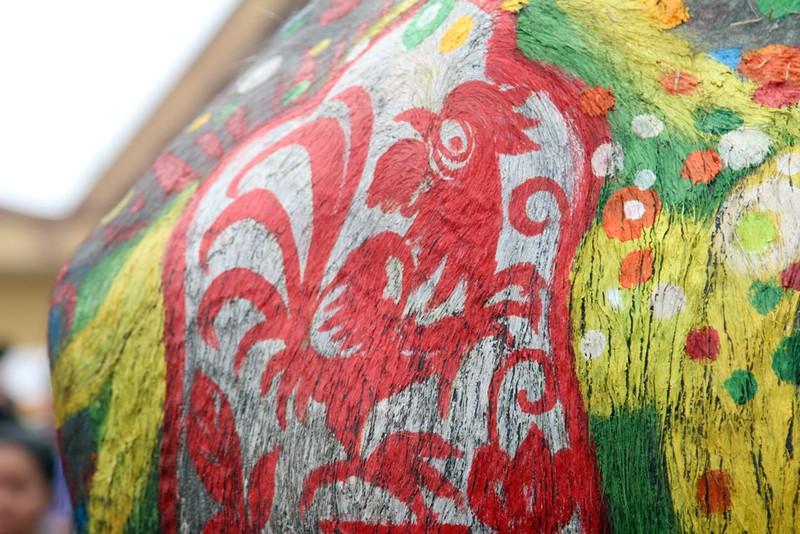 Hình ảnh trâu 'cõng' gà trống trong lễ hội Tịch Điền - ảnh 10