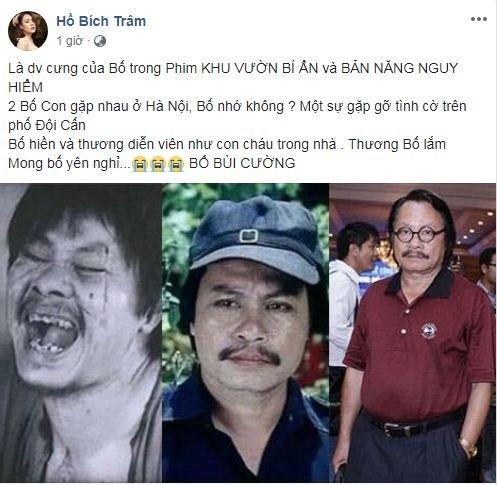 Sao Việt thương tiếc khi biết tin nghệ sĩ Bùi Cường qua đời - ảnh 3