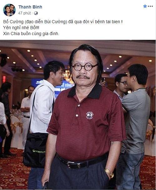 Sao Việt thương tiếc khi biết tin nghệ sĩ Bùi Cường qua đời - ảnh 1