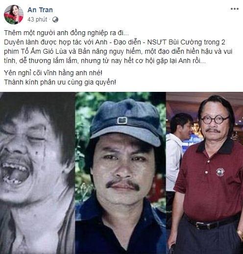 Sao Việt thương tiếc khi biết tin nghệ sĩ Bùi Cường qua đời - ảnh 6