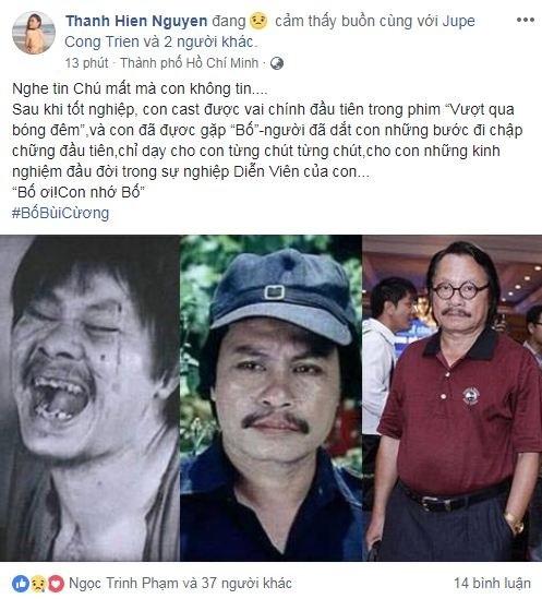 Sao Việt thương tiếc khi biết tin nghệ sĩ Bùi Cường qua đời - ảnh 12