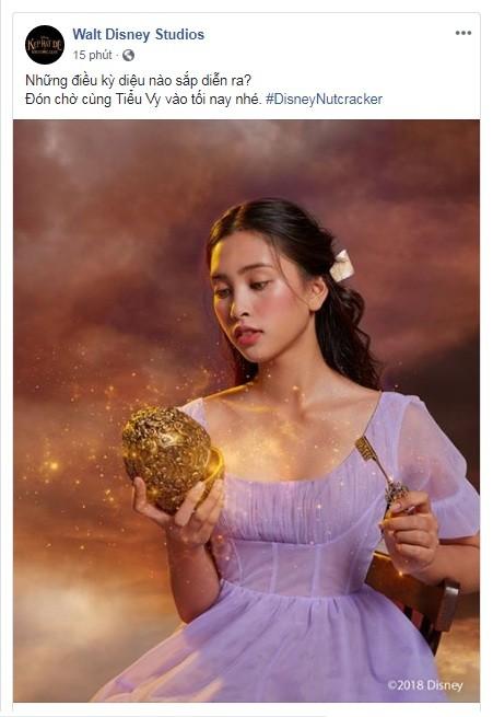 Tiểu Vy bất ngờ xuất hiện trên fanpage của 'Disney Studios' - ảnh 1