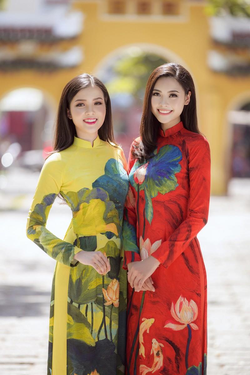 Thuý Vi và Đào Hà thướt tha trong tà áo dài Tết đón Xuân - ảnh 6