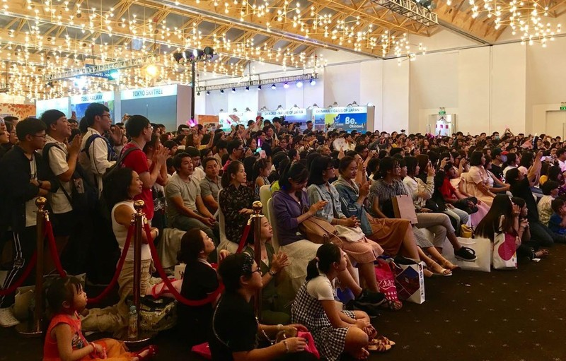 SGO48 'thất thủ' trước fan tại sự kiện giao lưu văn hóa  - ảnh 7