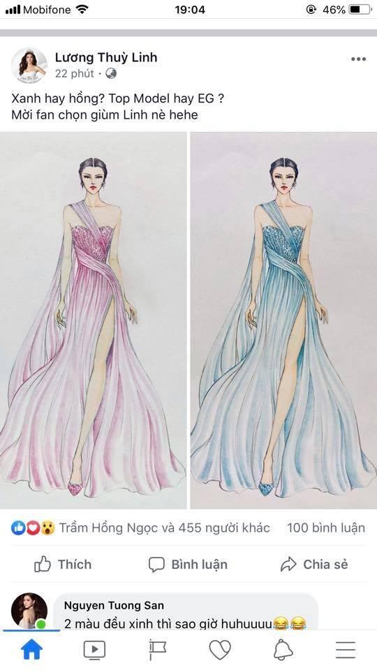Chiếc đầm Lương Thùy Linh sẽ mặc trong phần thi Top Model   - ảnh 2