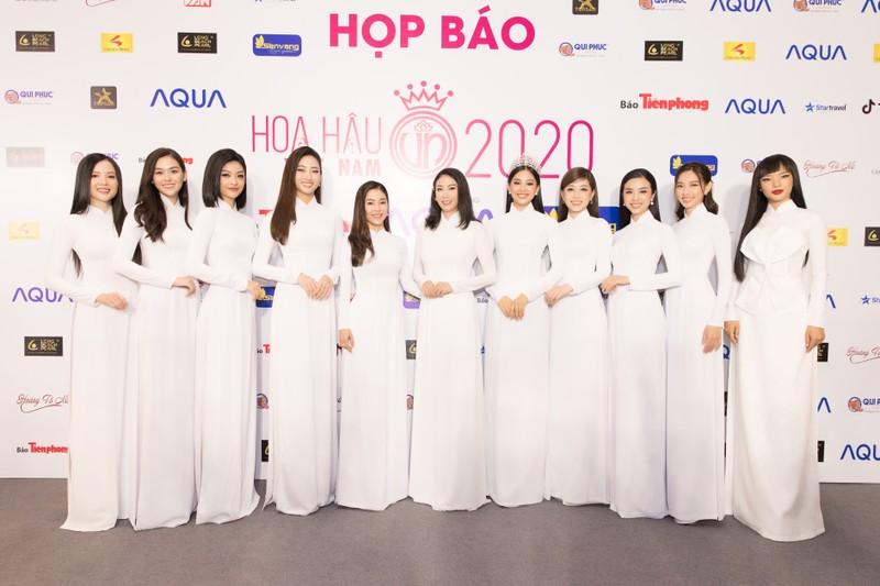 Dàn hoa, á hậu áo dài khởi động Hoa hậu Việt Nam 2020  - ảnh 2