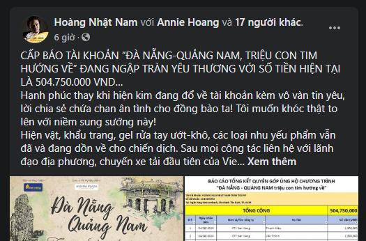 Chiến dịch quyên góp cho Đà Nẵng đã nhận số tiền hơn nửa tỷ - ảnh 1