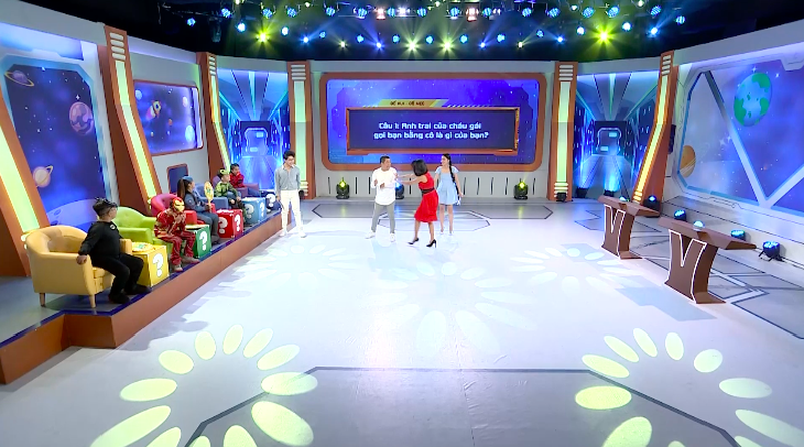 Hoàng Mèo chơi xỏ Khánh Ngọc tại Siêu nhí đấu trí - ảnh 5