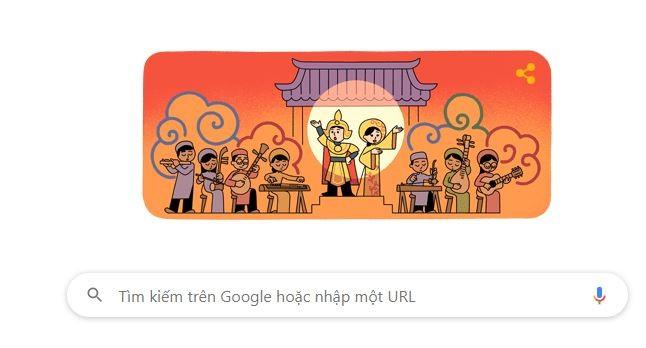 Google Doodle vinh danh ngày Giỗ tổ Sân khấu Việt Nam - ảnh 1