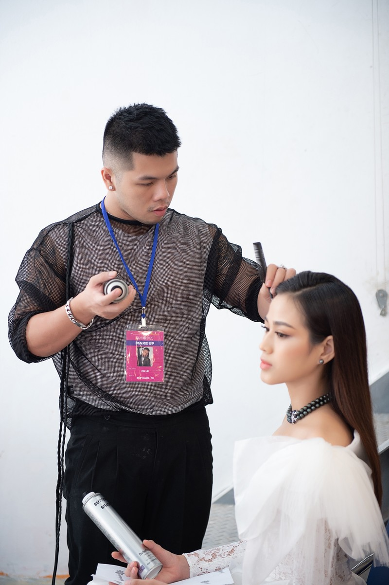 Quân Nguyễn và Pu Lê trở thành ê-kíp make-up Hoa hậu Việt Nam - ảnh 3