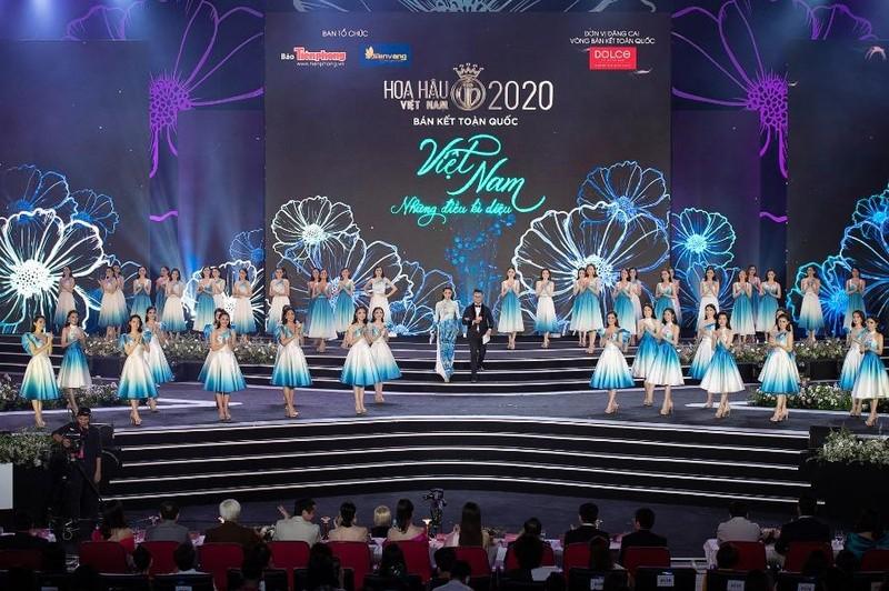 Ngắm Áo dài trong đêm Bán kết Hoa hậu Việt Nam 2020 - ảnh 1