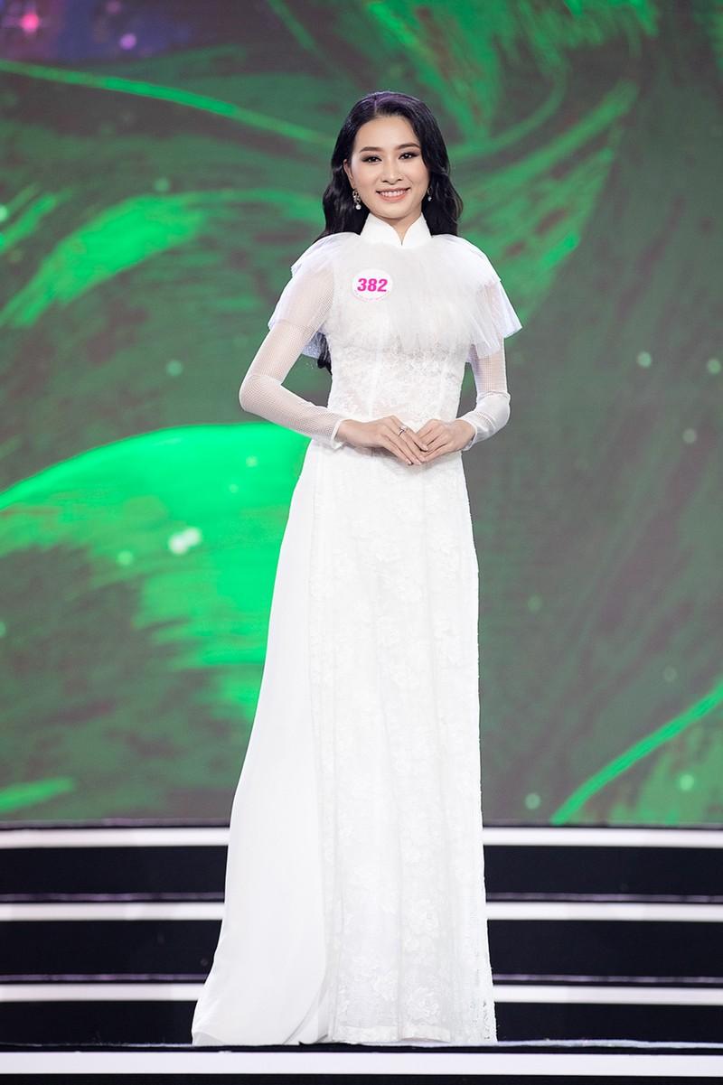 Ngắm Áo dài trong đêm Bán kết Hoa hậu Việt Nam 2020 - ảnh 7