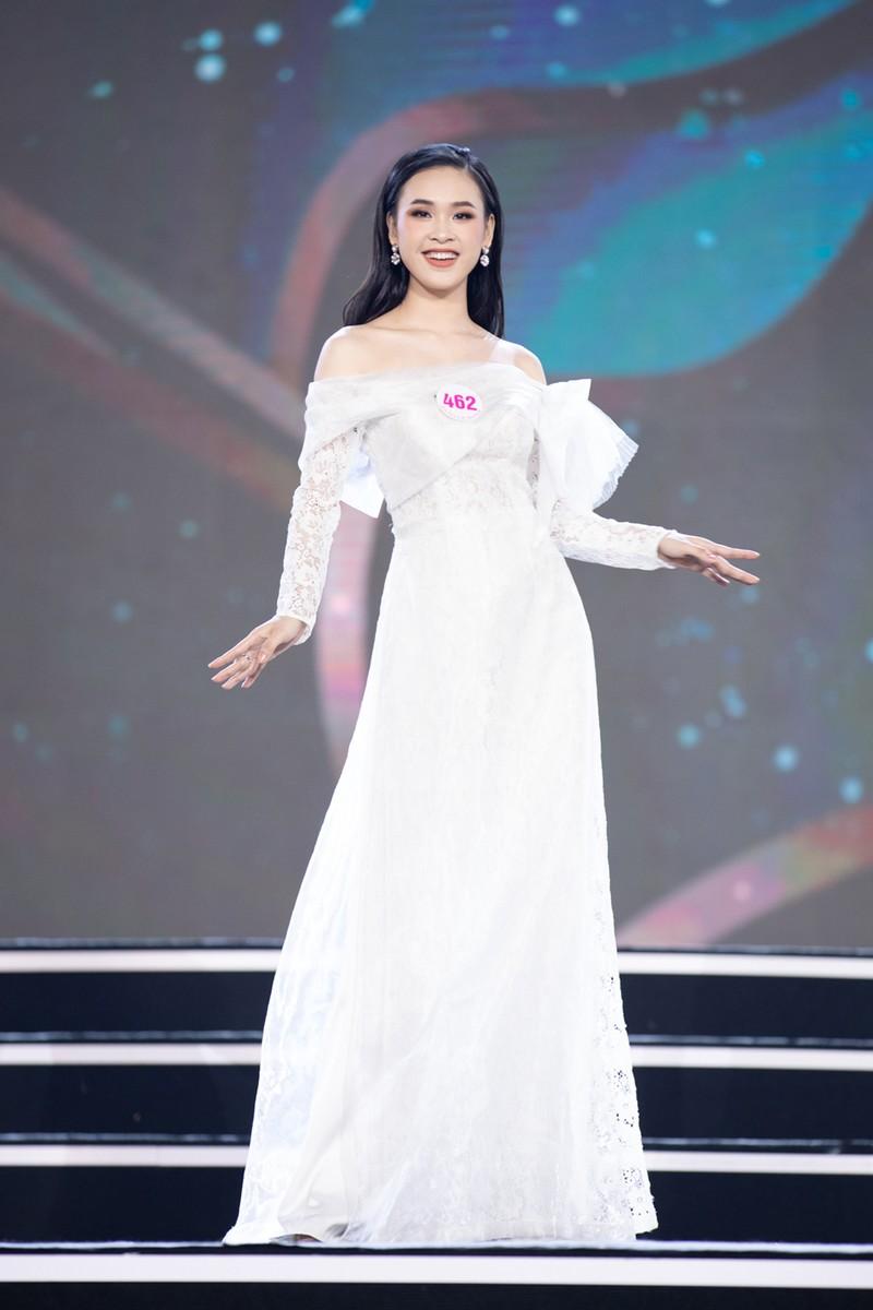 Ngắm Áo dài trong đêm Bán kết Hoa hậu Việt Nam 2020 - ảnh 16