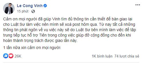 Công Vinh bất ngờ xóa bài đăng về antifan tấn công Thủy Tiên - ảnh 2
